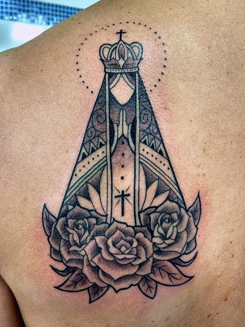 Tatuagem Nossa Senhora Aparecida 4 Amo Tatuagem