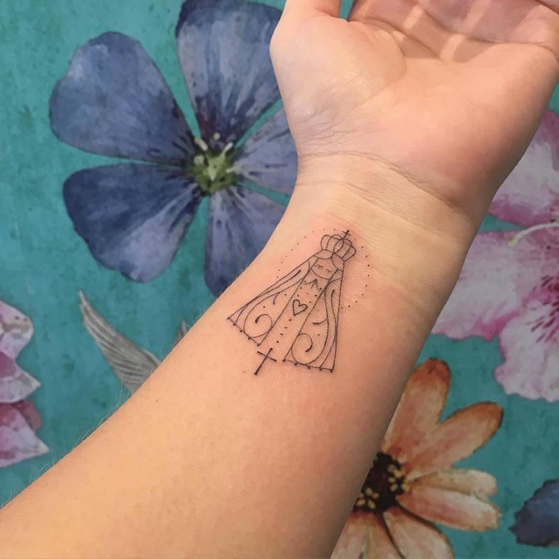 Significado E Ideias De Tatuagem Nossa Senhora Aparecida