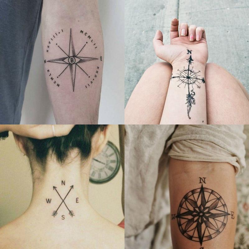Significado E Ideias De Tatuagem Rosa Dos Ventos Amo Tatuagem