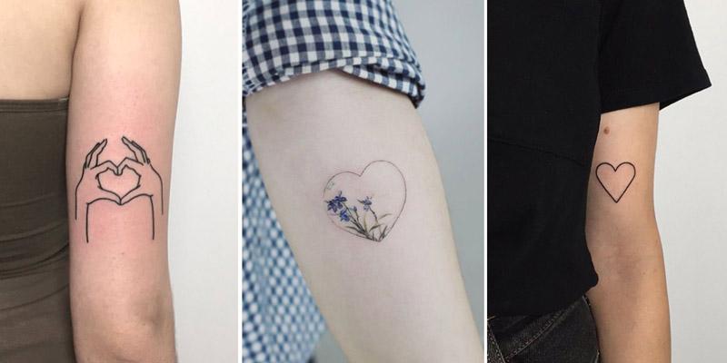 Tatuagem De Coração é Clássica E Fofinha Amo Tatuagem