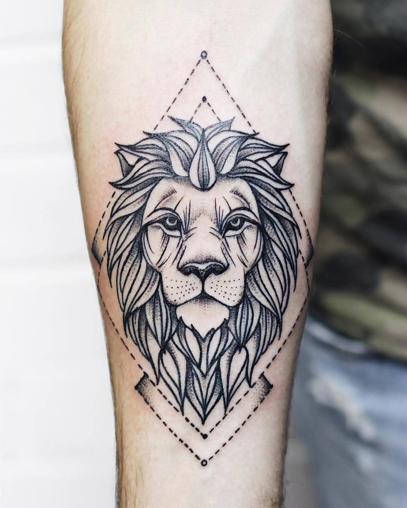349 Best Images About Tat Up On Pinterest: Tatuagem De Leão: Força, Determinação E Vários Estilos