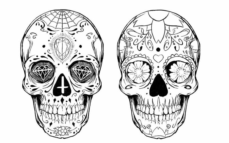 Fotos E Ideias De Tatuagem De Caveira Mexicana Amo Tatuagem