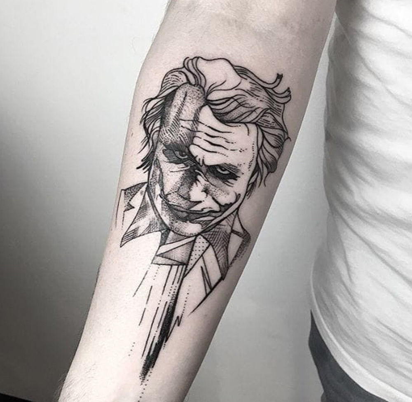 Line Design Art With Mr E : Tatuagens coringa confira essas tattoos incríveis desse