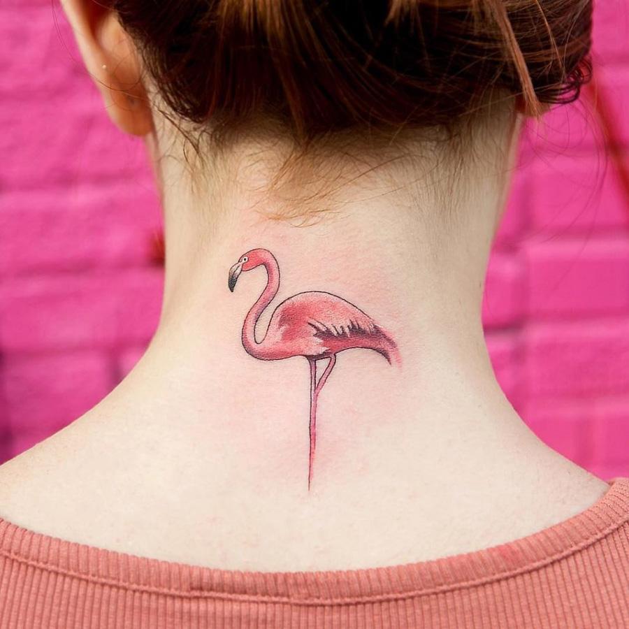 Tatuagens de flamingo