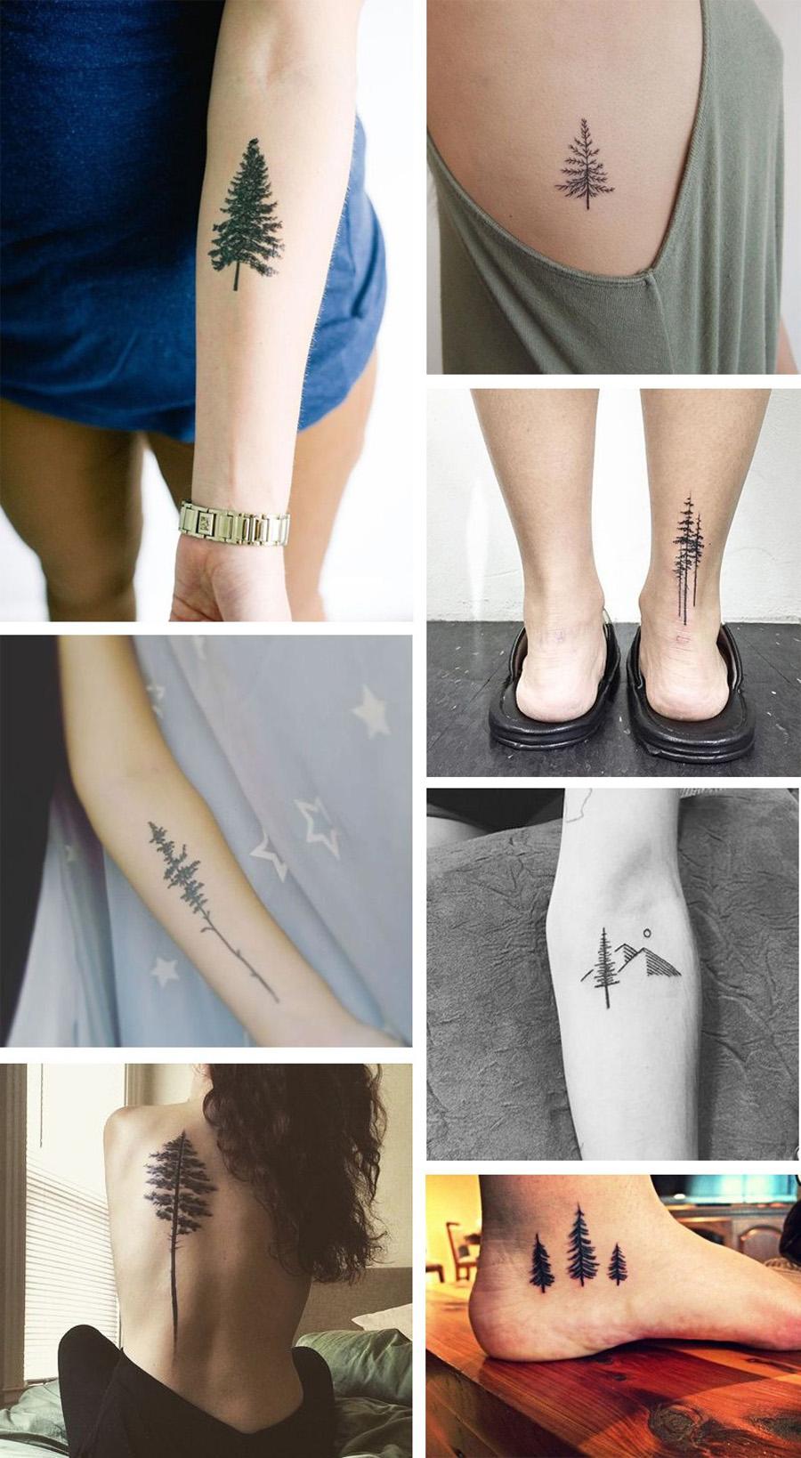 Tatuagens de pinheiro