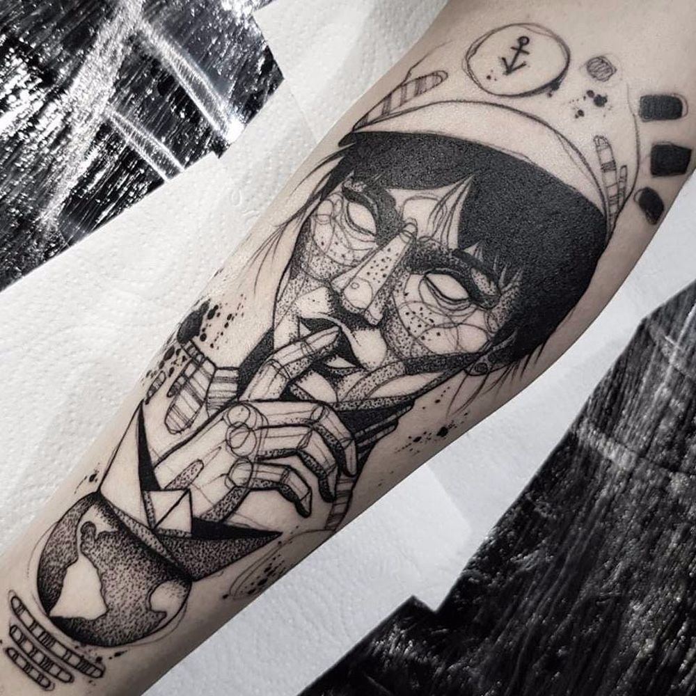 Tatuagens blackwork