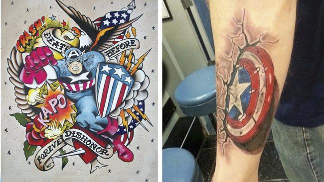 Tatuagens dos Vingadores