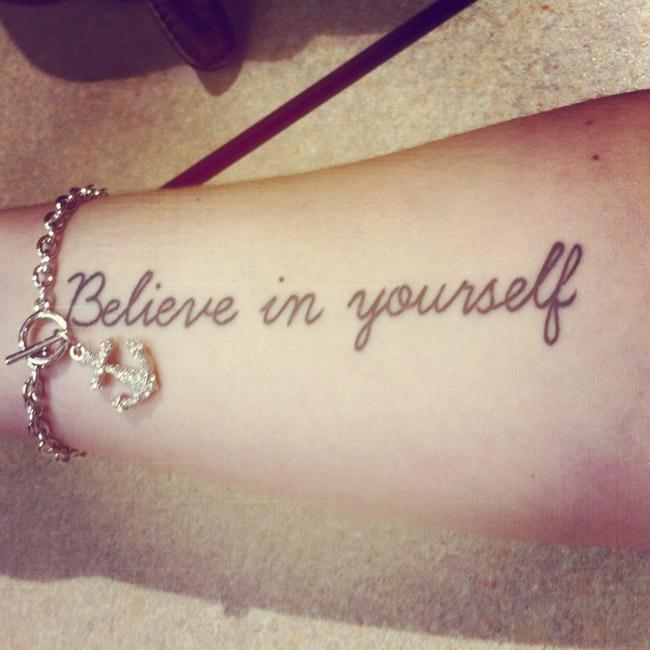 Tatuagem Believe