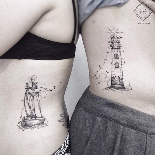 Tatuagens de farol