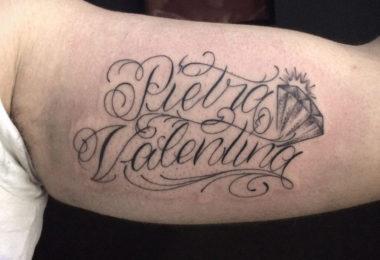 Tatuagem com nome dos filhos