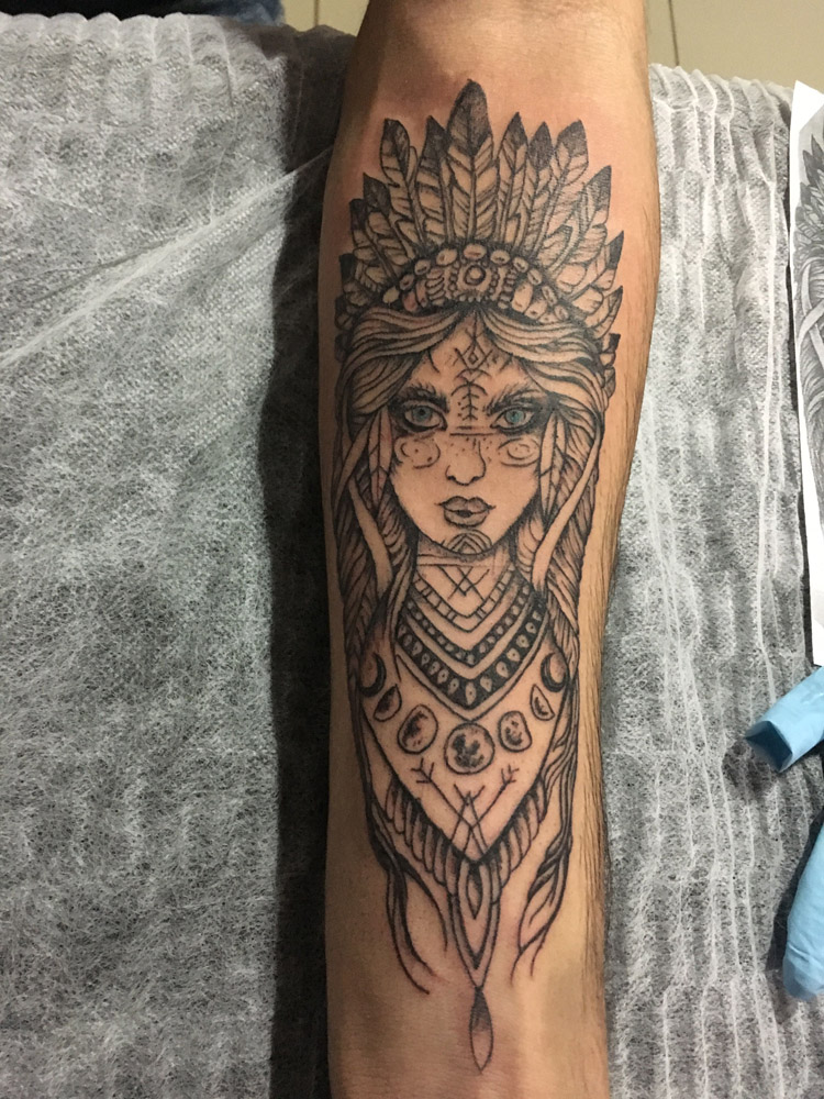 Tatuagem de índia