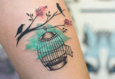 Tatuagem de gaiola