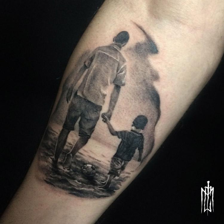 Tatuagem pai e filho
