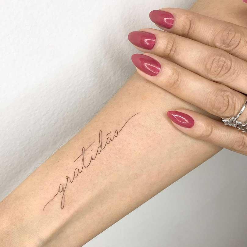 Tatuagem de gratidão