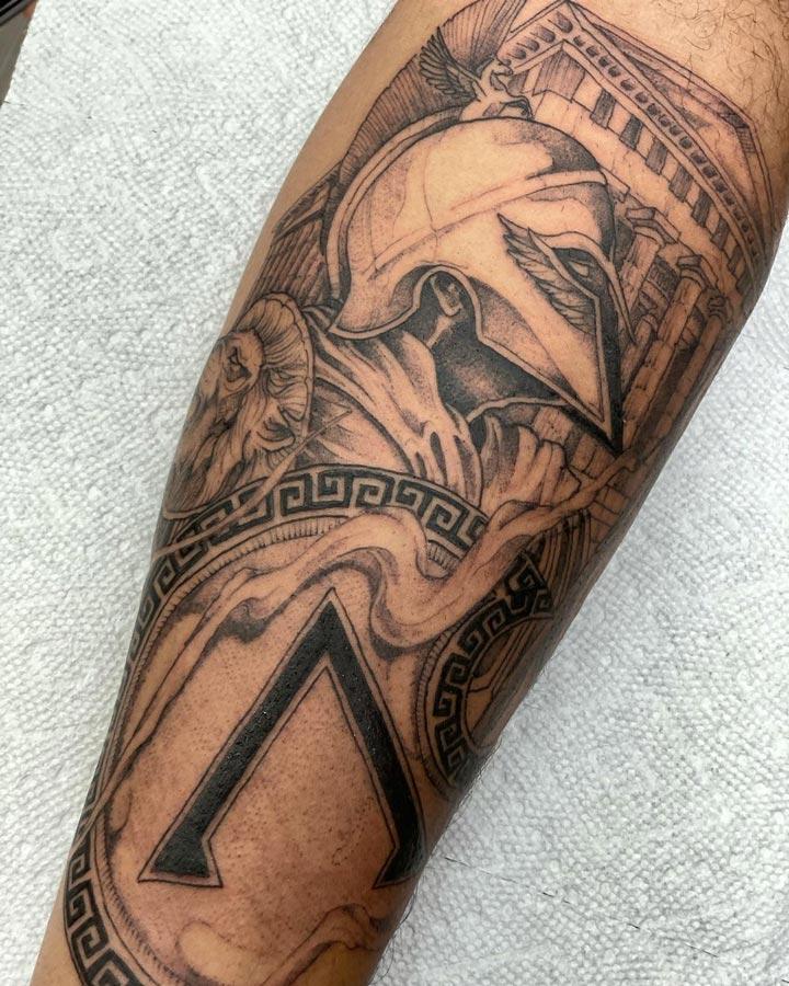 Tatuagens gregas gladiador