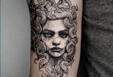 Tatuagens gregas medusa