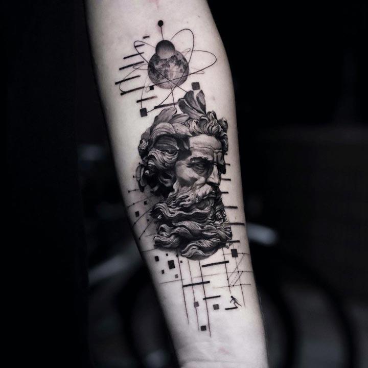 Tatuagens gregas Poseidon